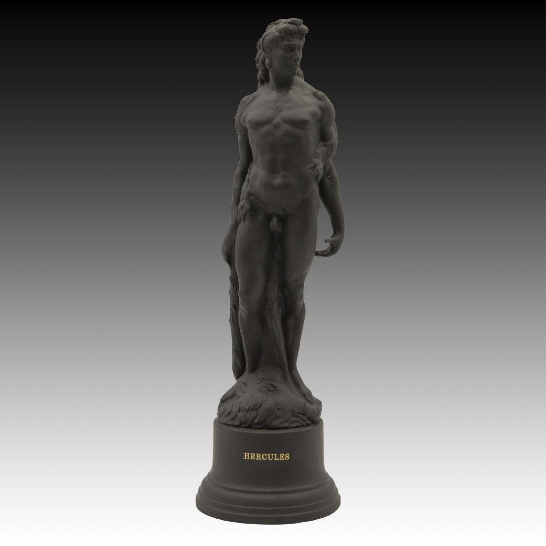 Wedgwood Black Basalt Hercules Figurine