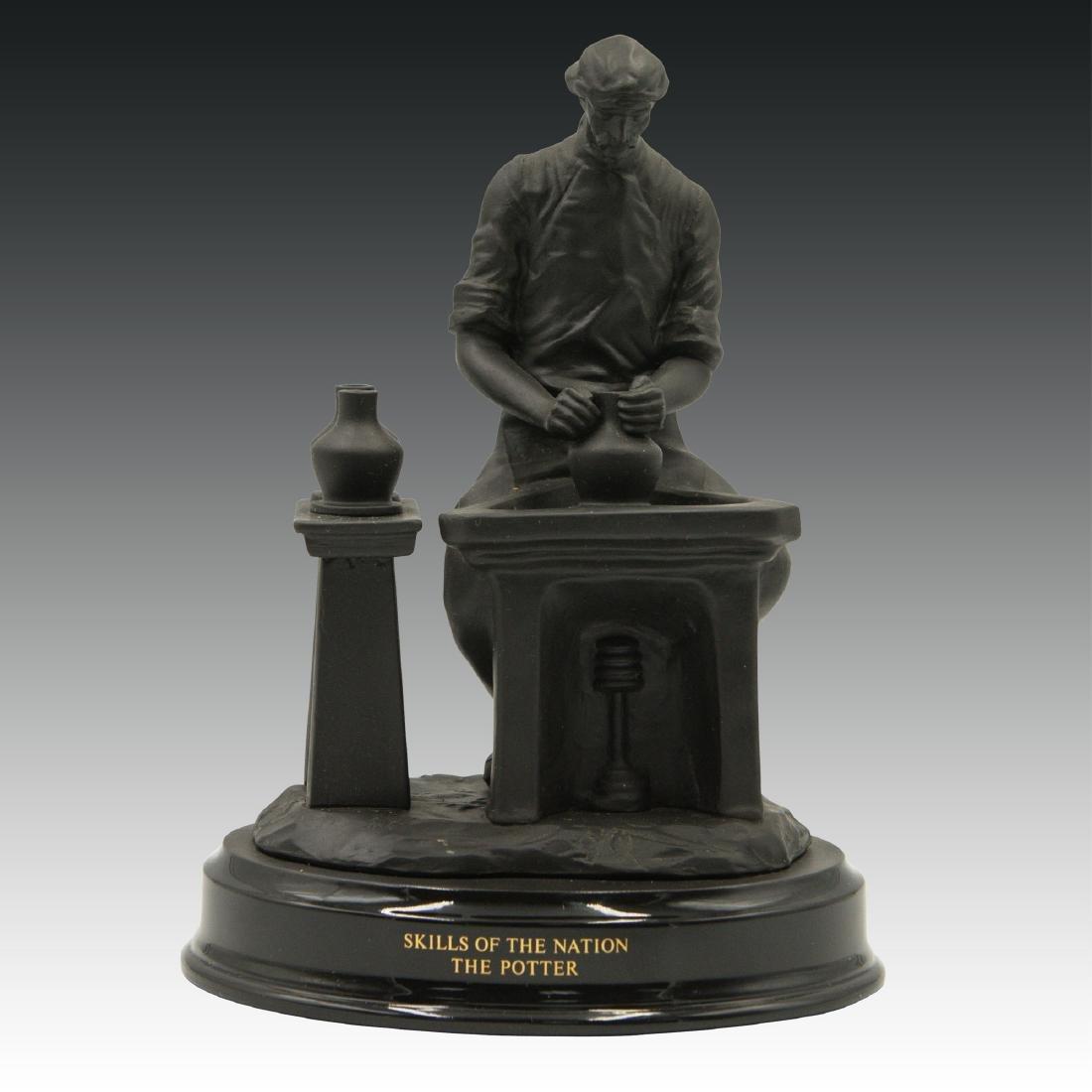 Wedgwood Black Basalt Figure The Potter