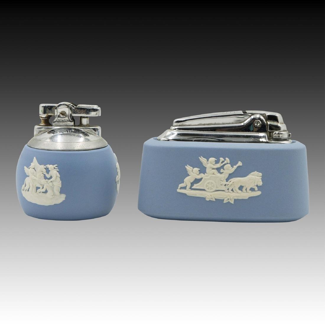 2 Wedgwood Jasperware Lighters
