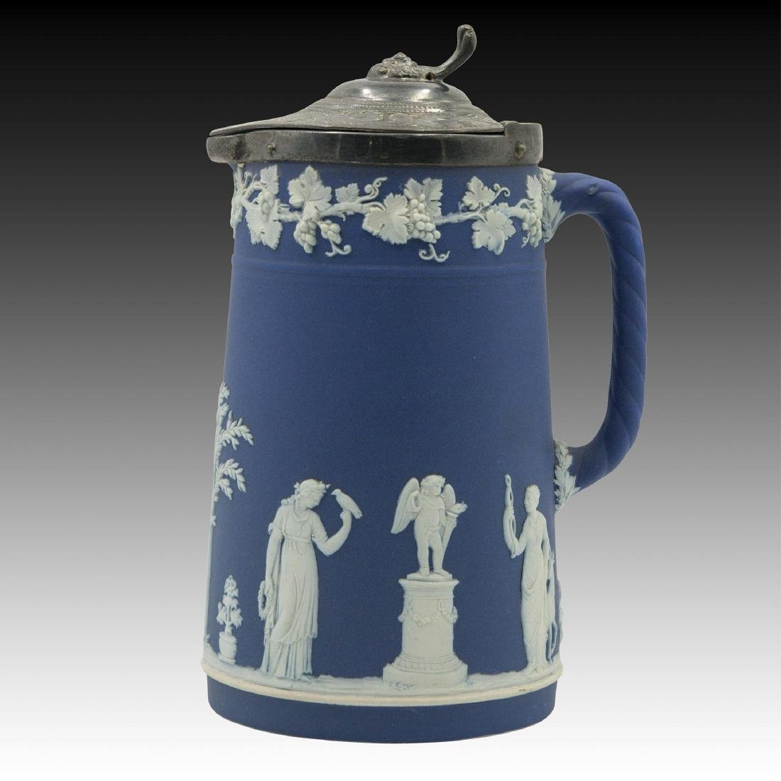 Wedgwood Blue Jasperware Water Pitcher