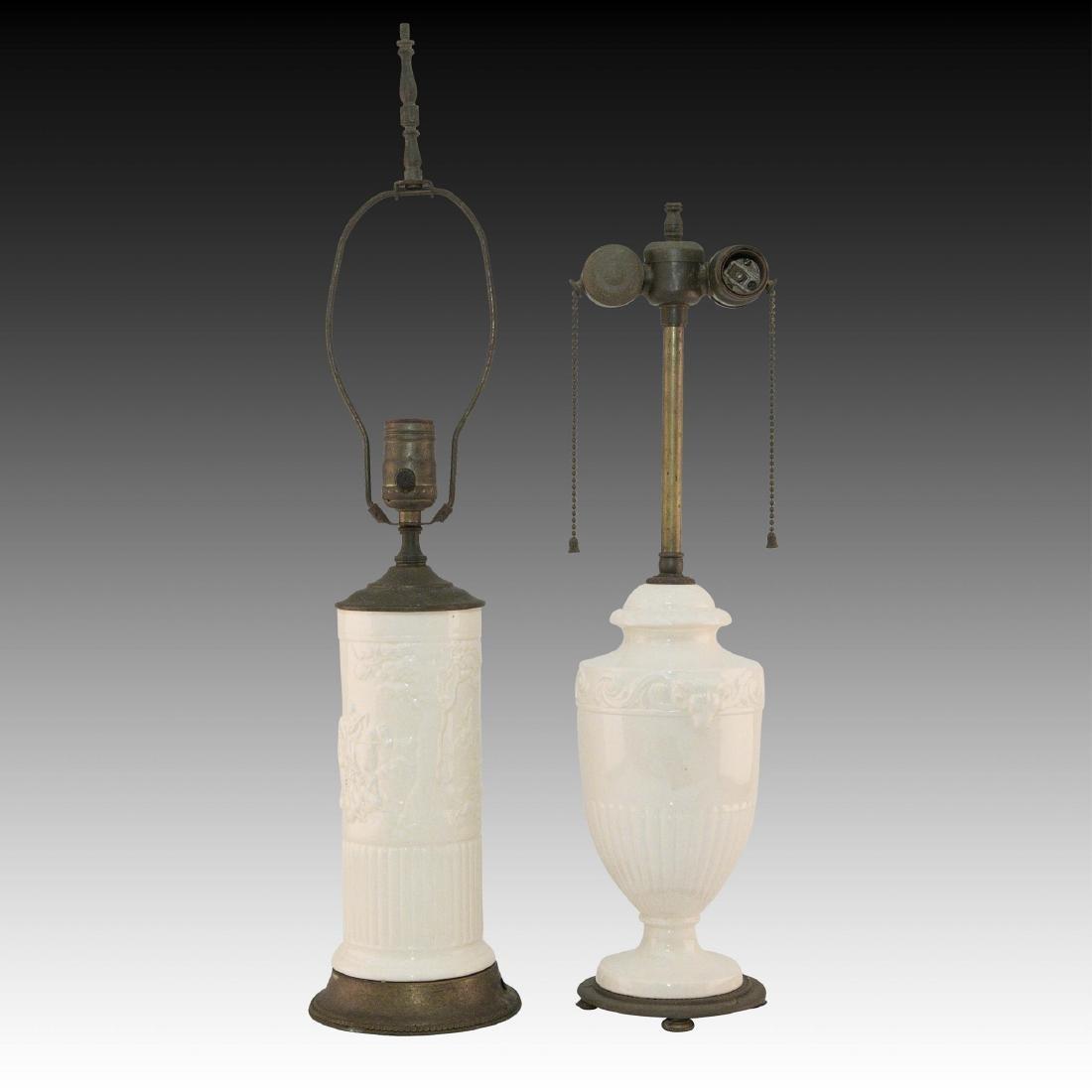 2 Wedgwood Queensware Lamps