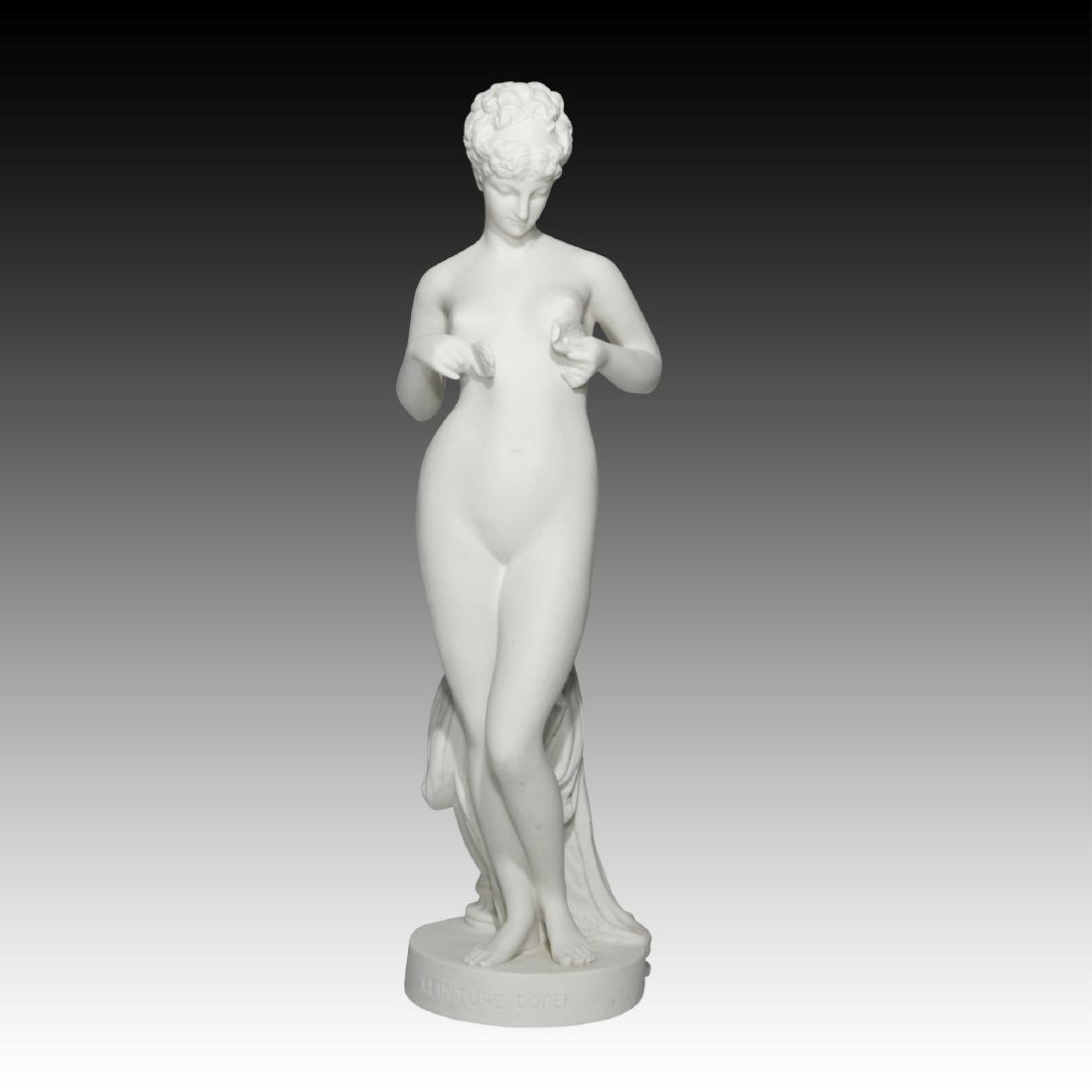Sevres French Bisque Porcelain Nude Statue Figurine