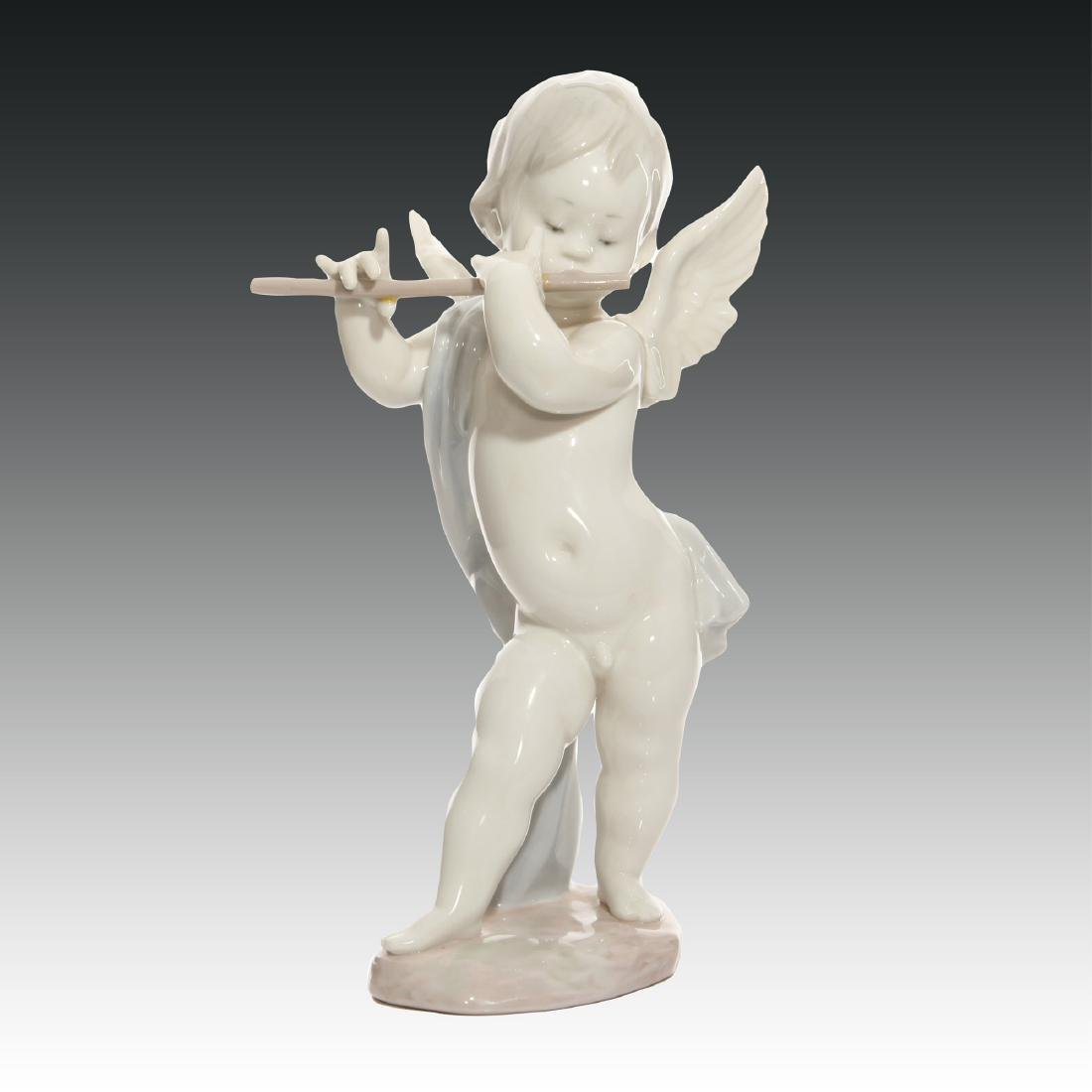 Lladro Angel with Flute Figurine 1233 Retired 1987
