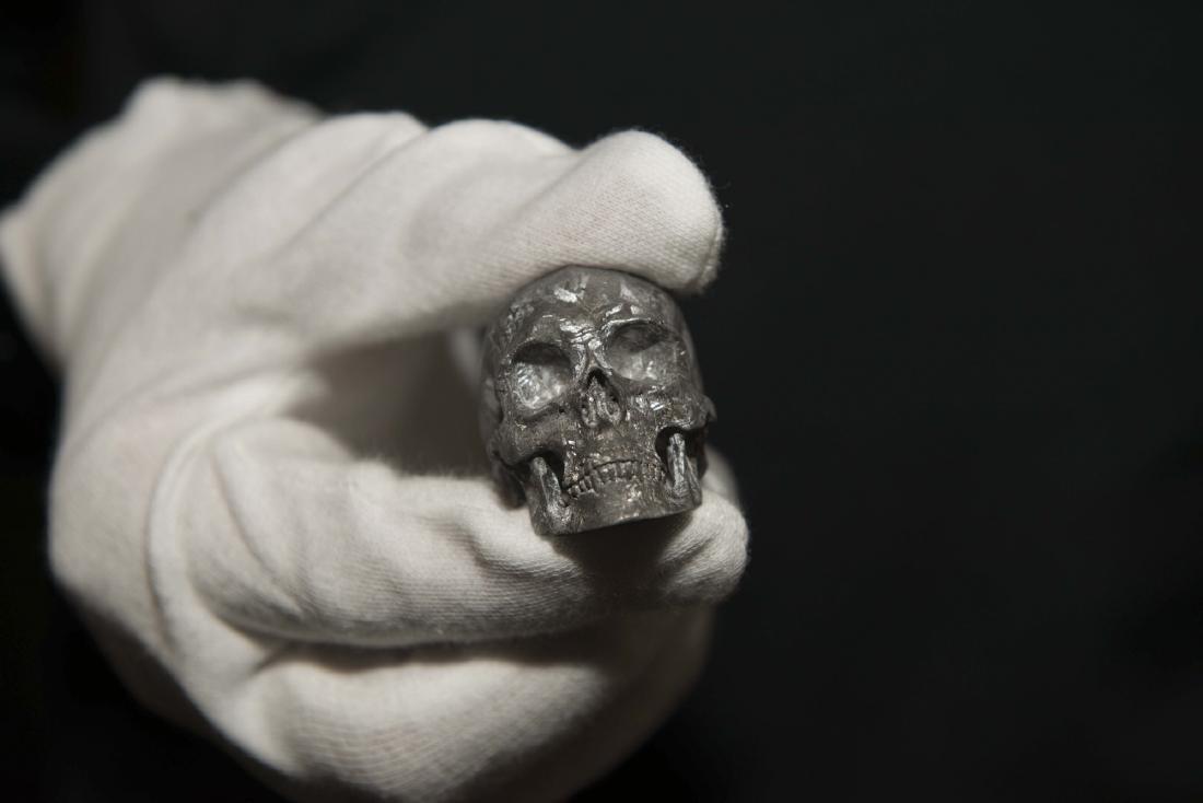 Gibeon Meteorite Skull by Lee Downey - 4
