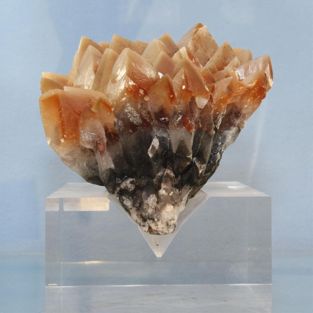 Red Quartz Cave Crystal Cluster Specimen on Base