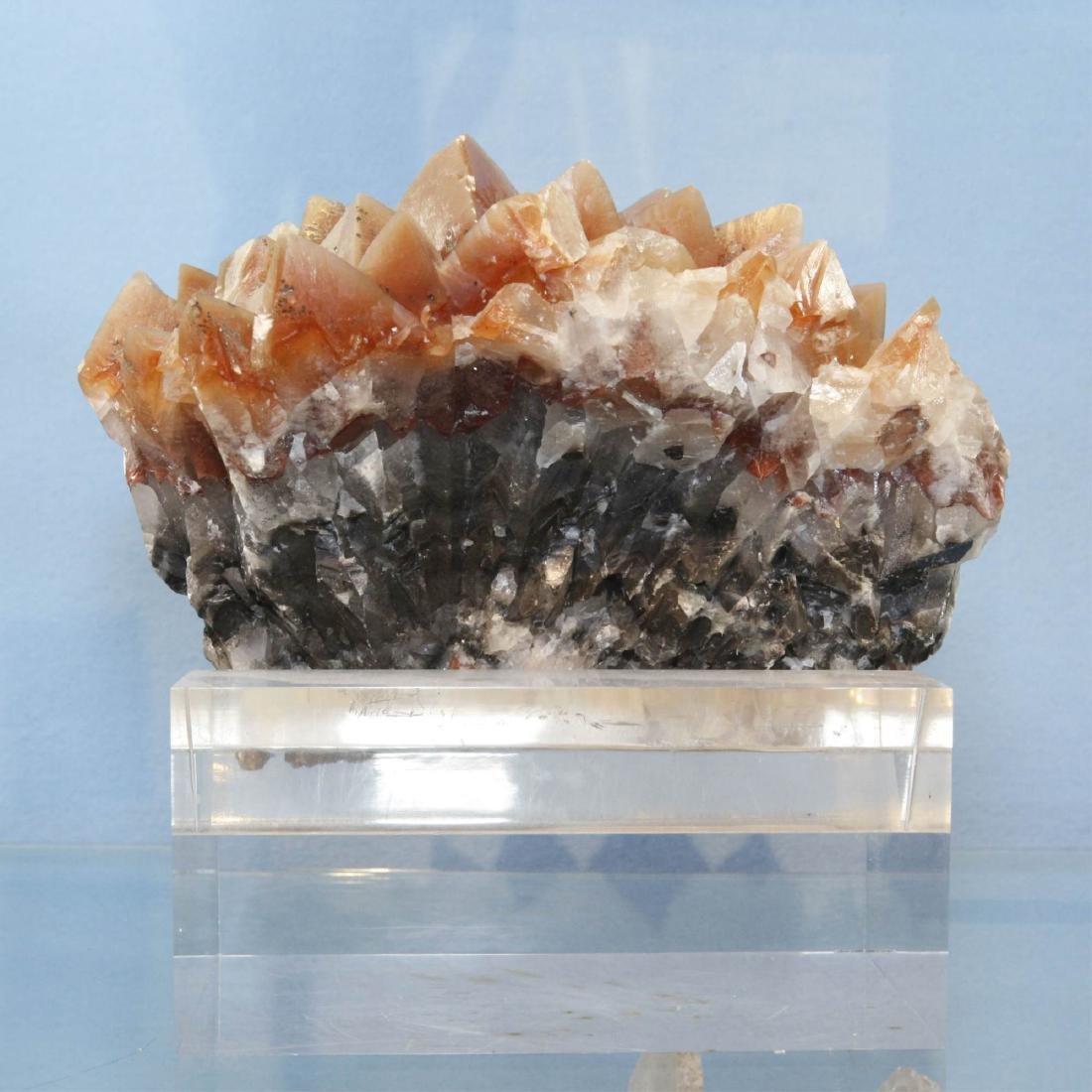 Red Quartz Cave Crystal Cluster Specimen on Base - 4