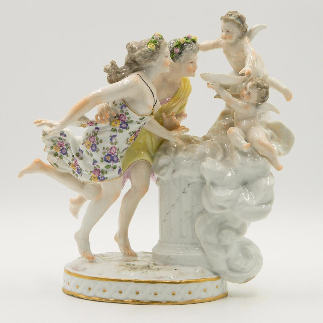 Samson French Porcelain Semi Nude Group Figurine