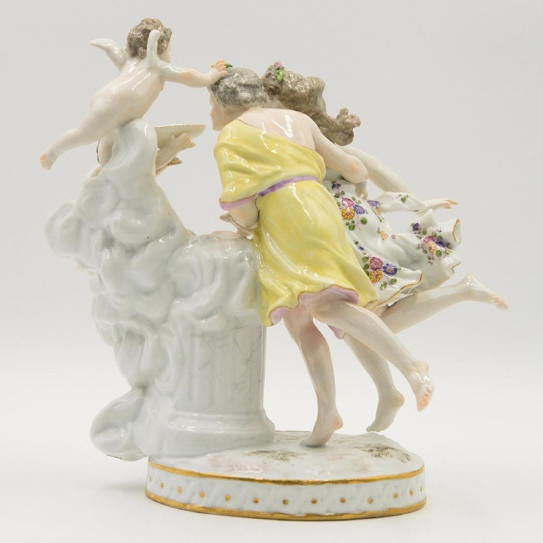 Samson French Porcelain Semi Nude Group Figurine - 2
