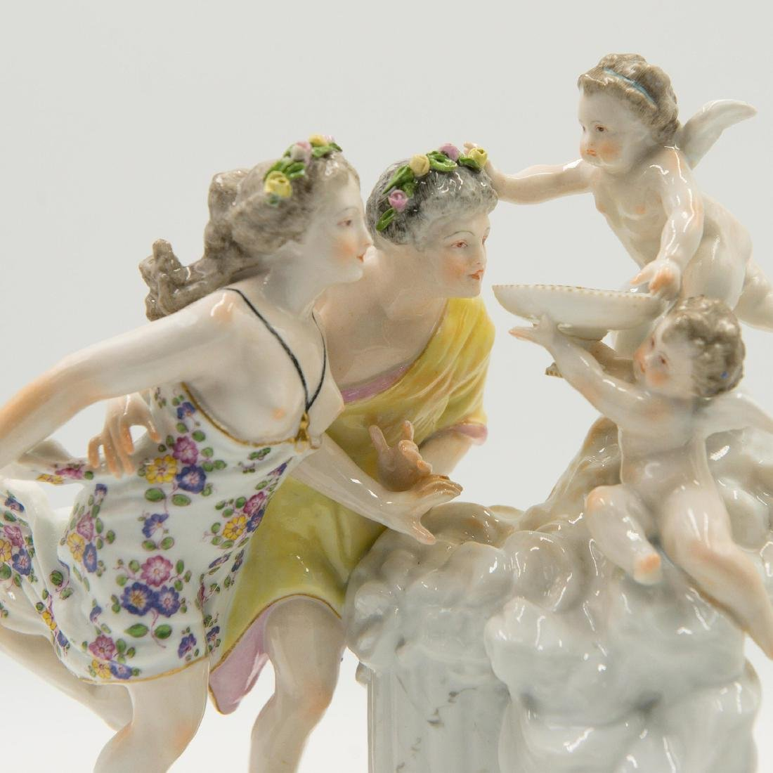 Samson French Porcelain Semi Nude Group Figurine - 3