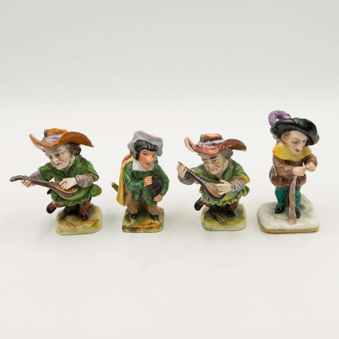 Capodimonte Porcelain Group of 4 Gnomes Dwarfs