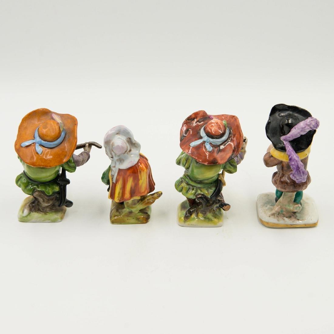 Capodimonte Porcelain Group of 4 Gnomes Dwarfs - 2