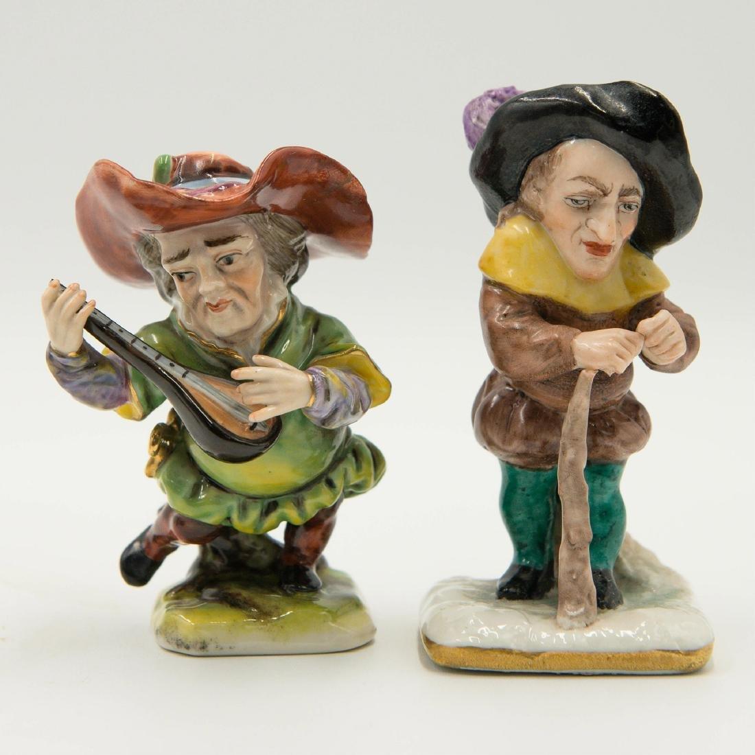 Capodimonte Porcelain Group of 4 Gnomes Dwarfs - 4