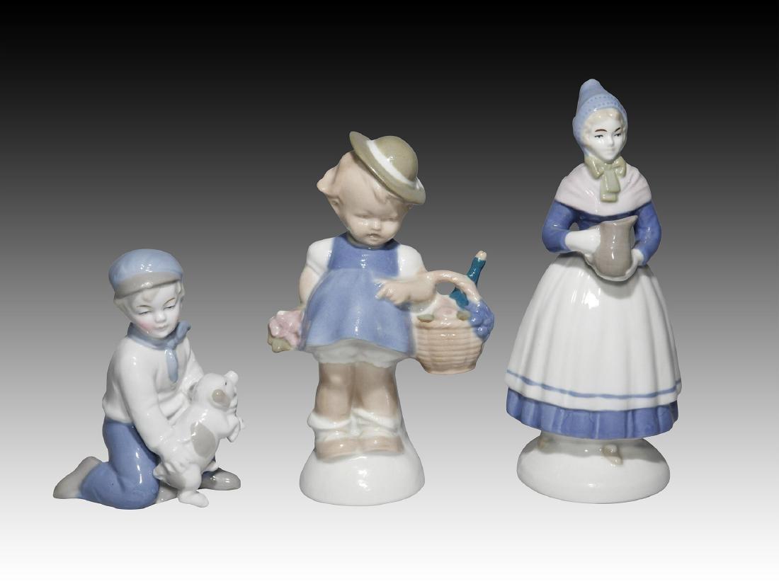 Group of 10 German GDR Porcelain Figurines of Kids - 3