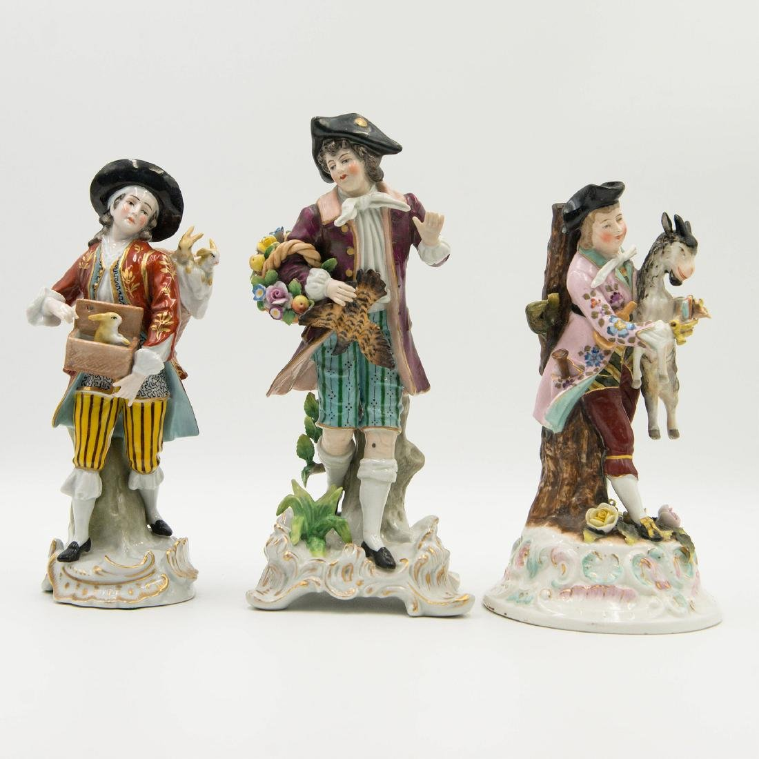 Group of 3 Sitzendorf German Porcelain Figurines