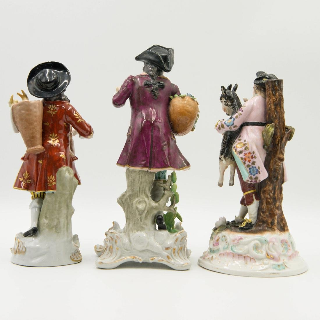 Group of 3 Sitzendorf German Porcelain Figurines - 2