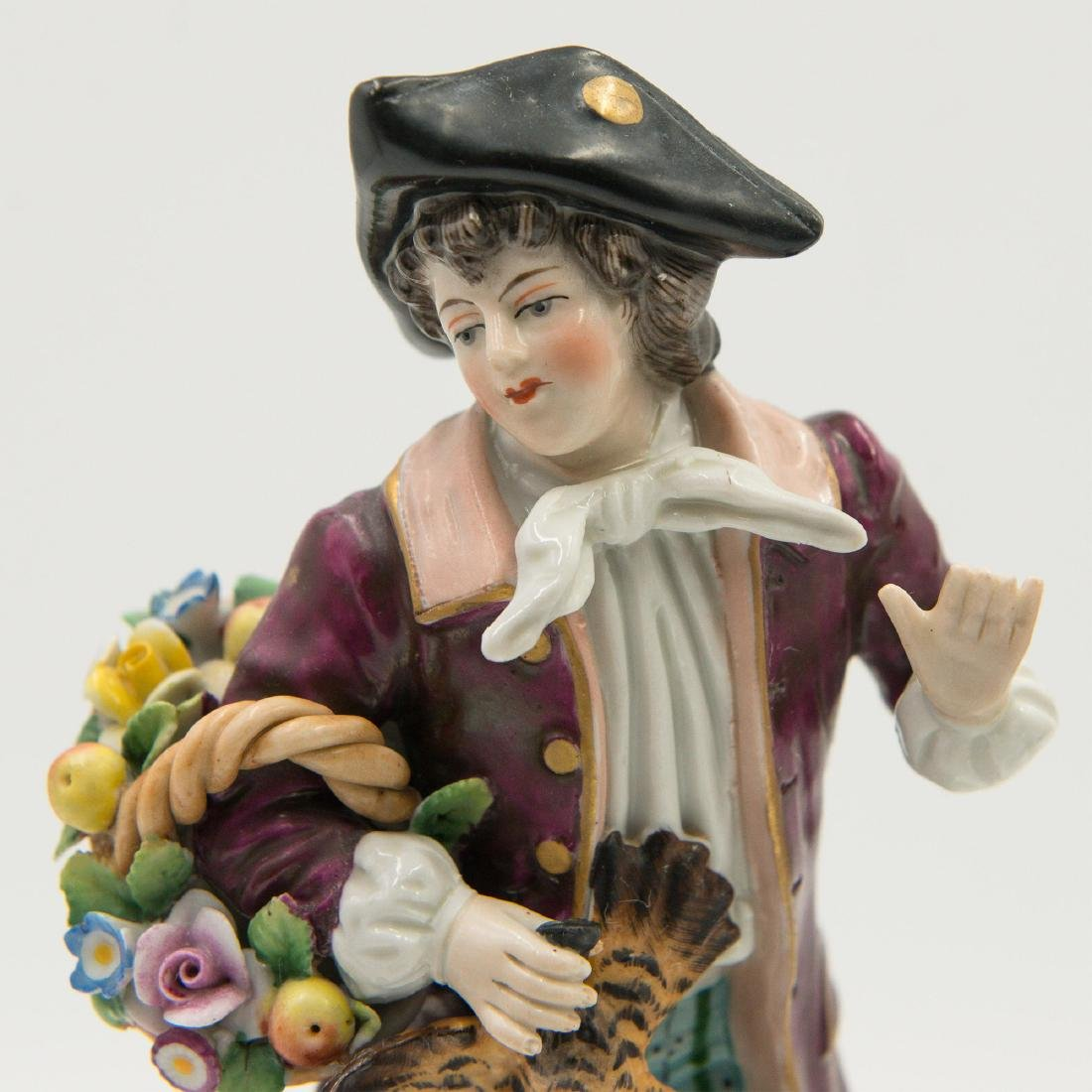 Group of 3 Sitzendorf German Porcelain Figurines - 5