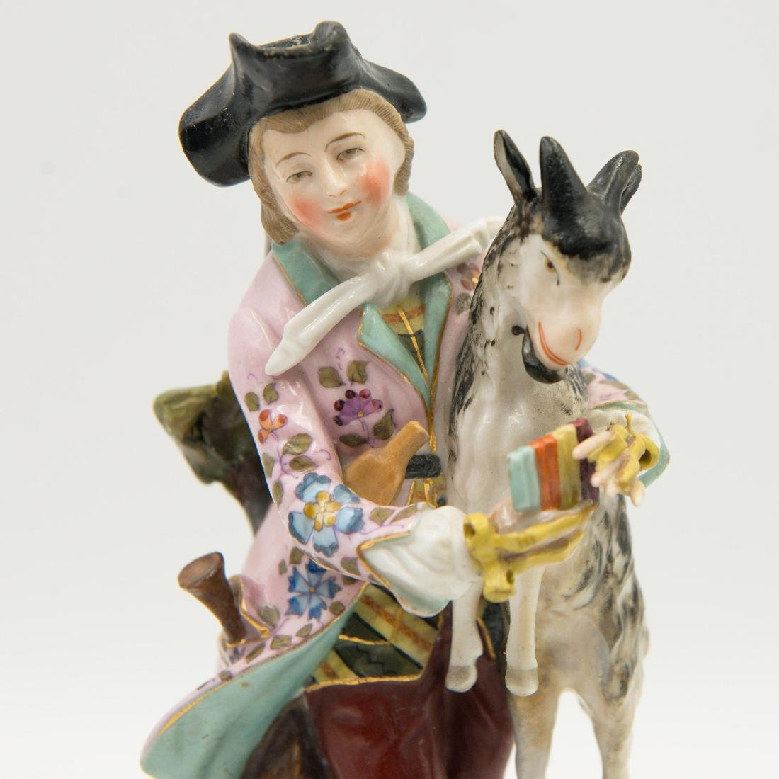 Group of 3 Sitzendorf German Porcelain Figurines - 6