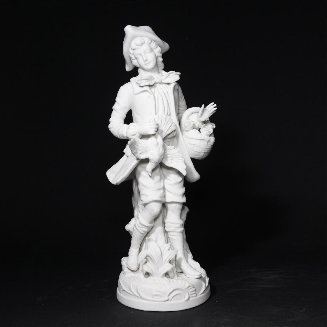 Bisque Porcelain Statue Sculptural Figurine