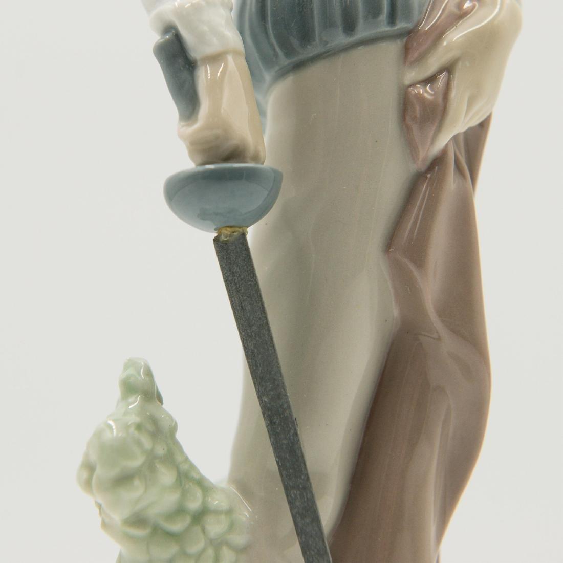 Lladro Quixote Standing Up Figure (4854) - 3