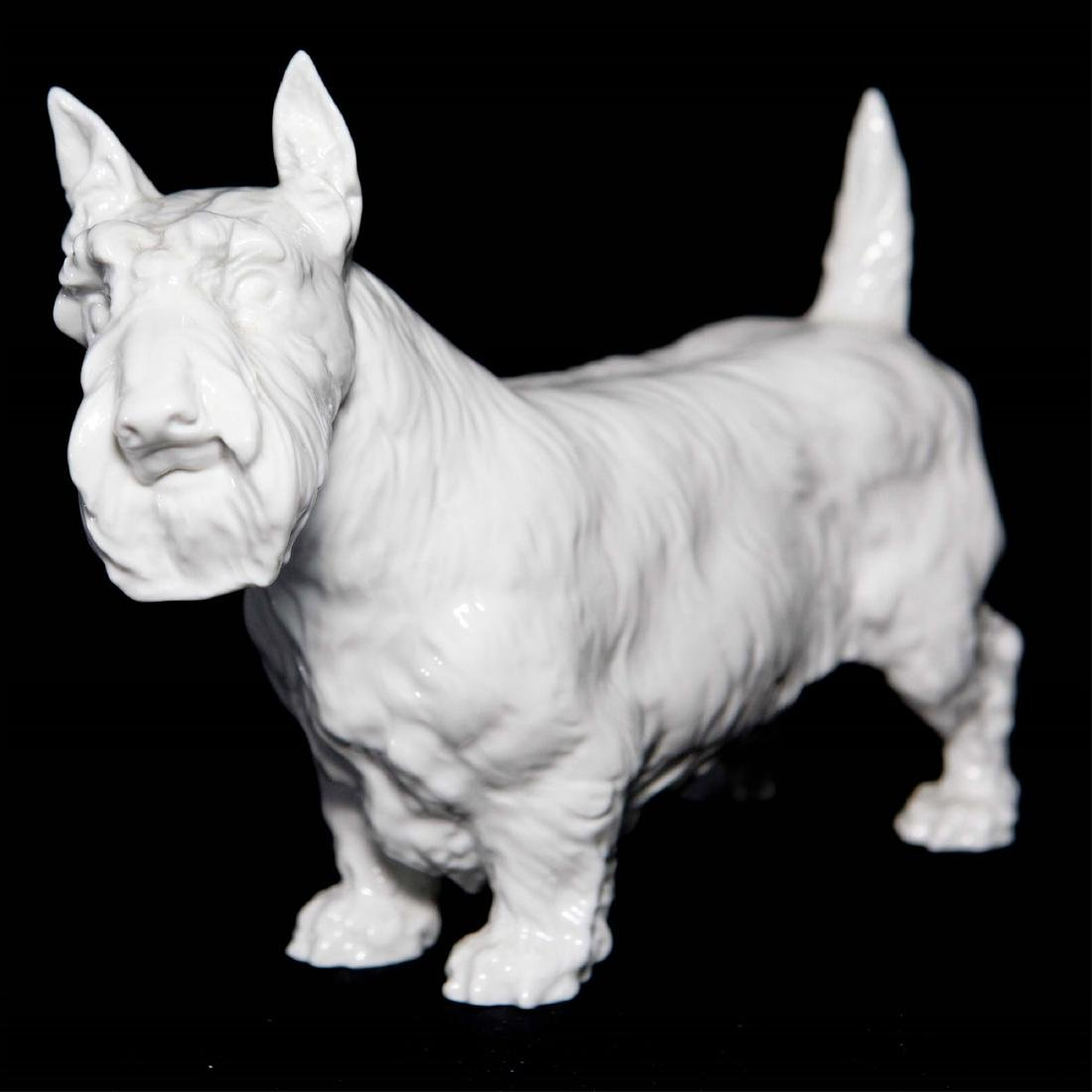 Meissen Blanc De Chine Porcelain Dog Figurine