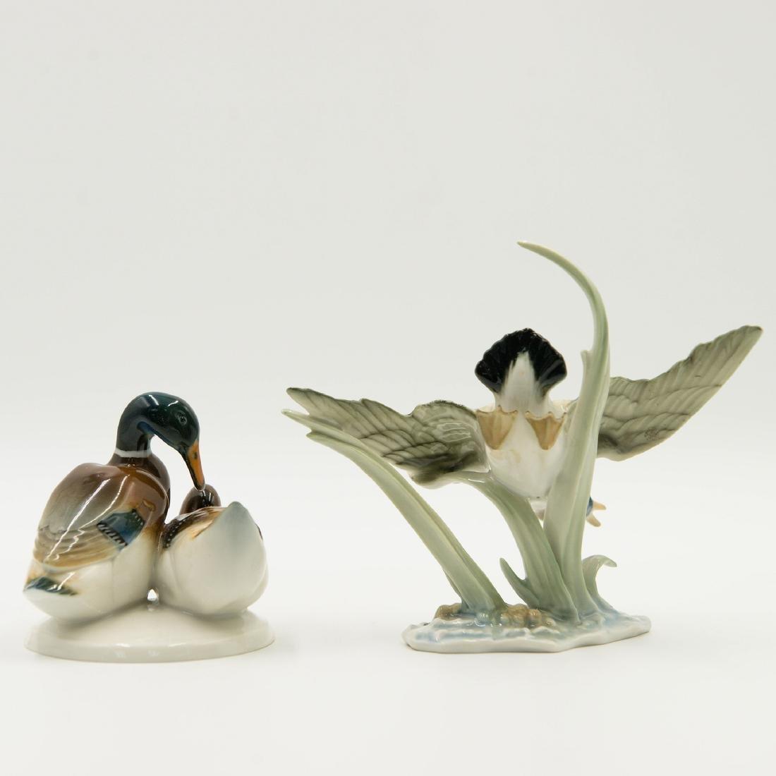 Pair of Hutschenreuther Duck Figurines - 2