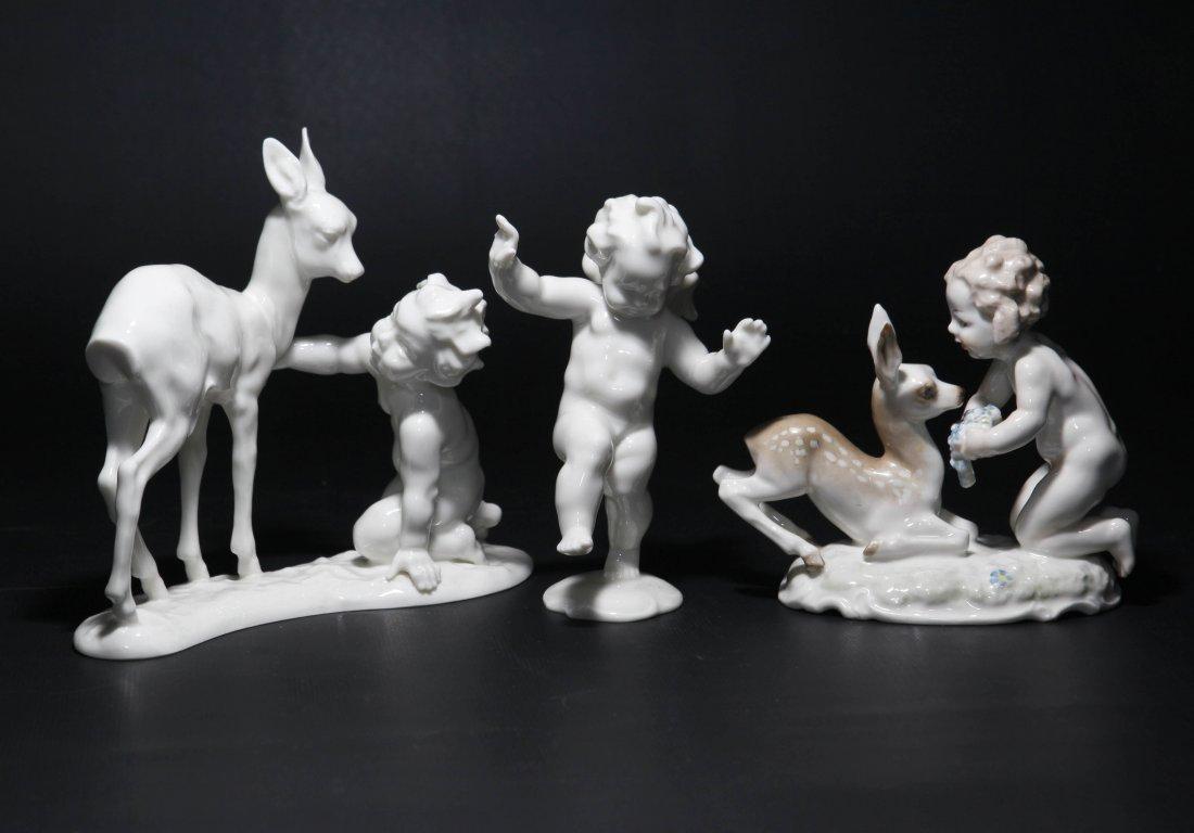 Group of 3 Hutschenreuther Cherub Figurines