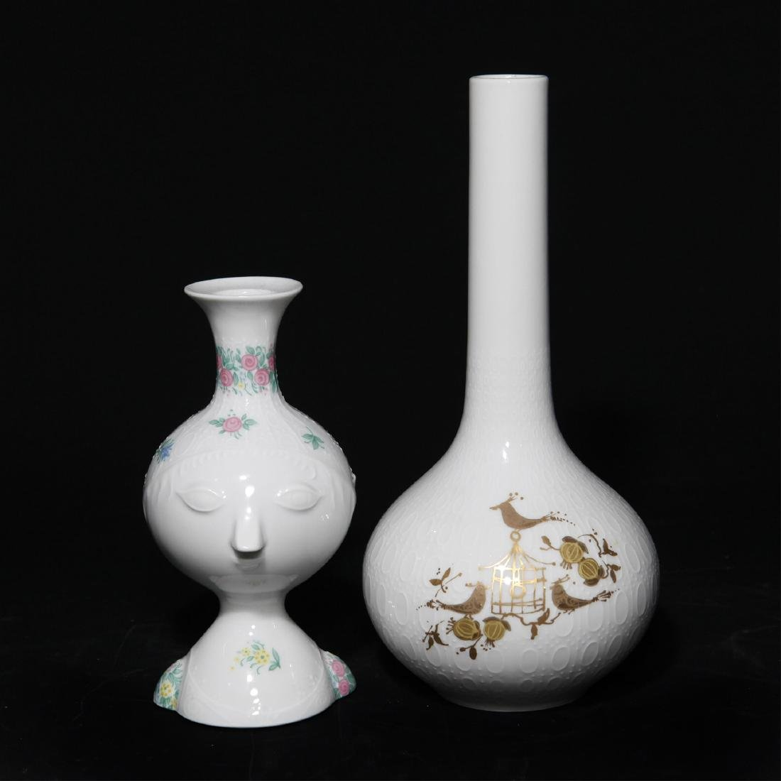 Group of 2 Rosenthal Bjorn Wiinblad Vases