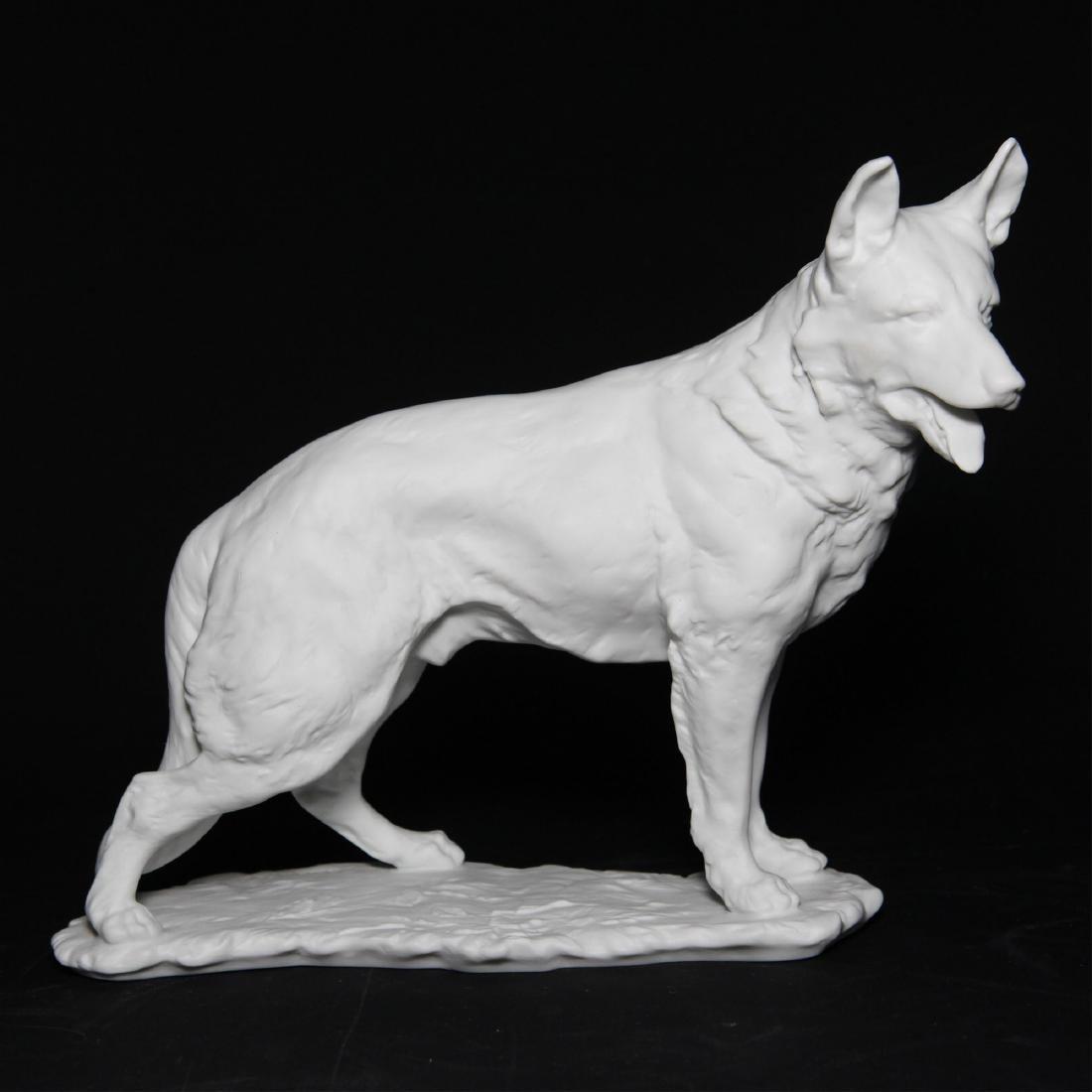 Kaiser German Shepherd Dog Bisque Figurine