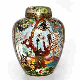 Wedgwood Fairyland Lustre Vase & Lid, Ghostly Wood