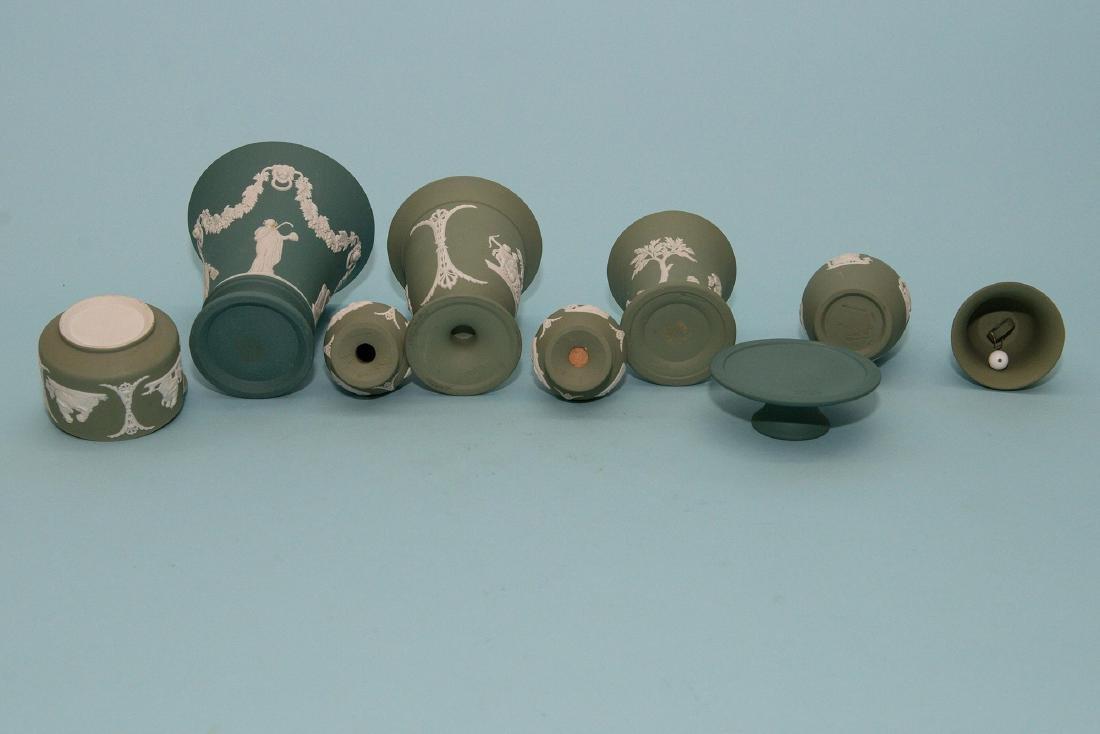 Wedgwood 10pcs Green/White  Jasperware Collection - 3