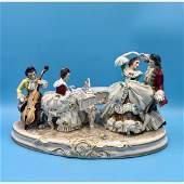 Large Dresden German Porcelain Group