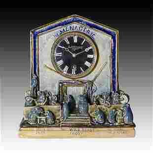 Doulton Lambeth George Tinworth Clock Menagerie