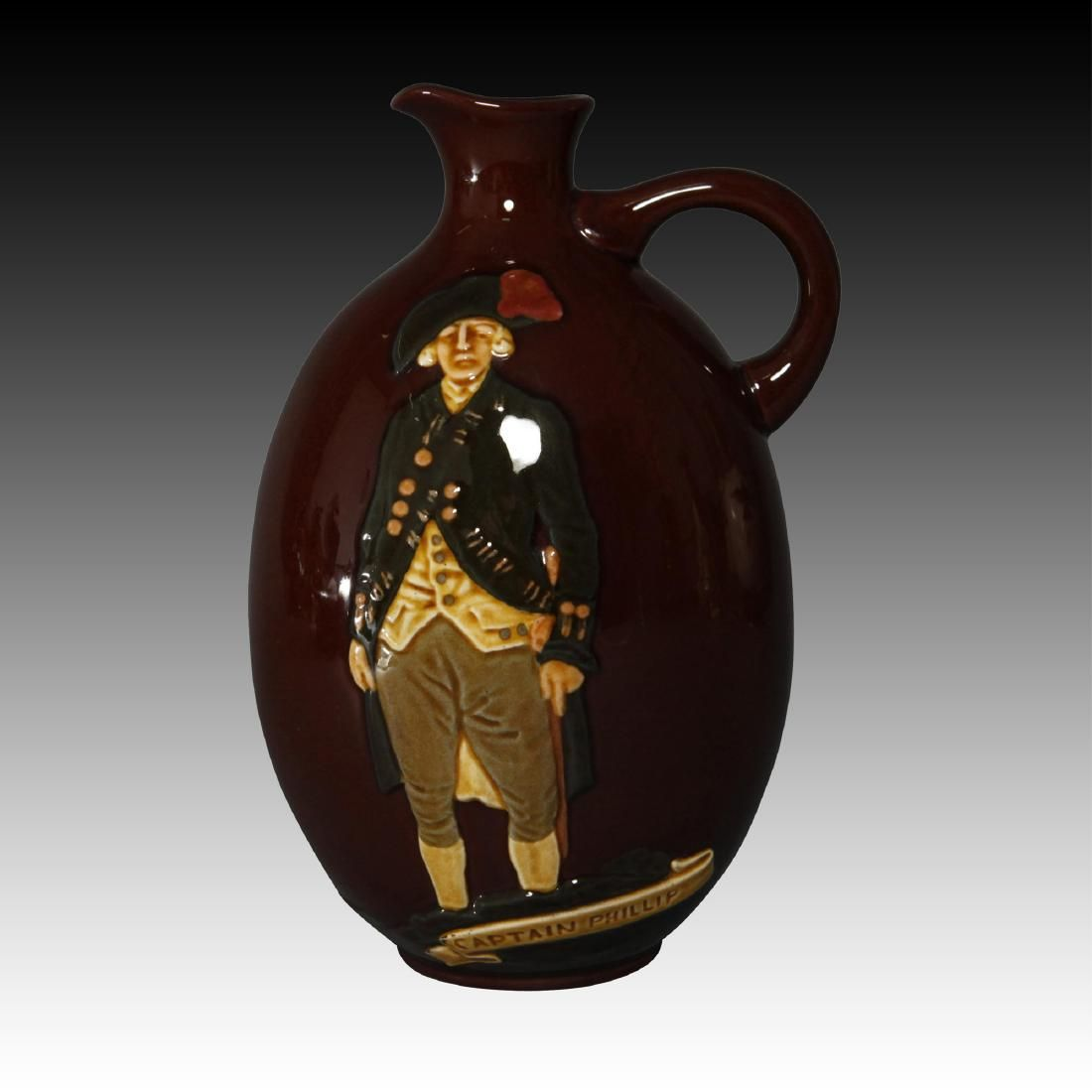 Royal Doulton Kingsware Captain Phillips Flask