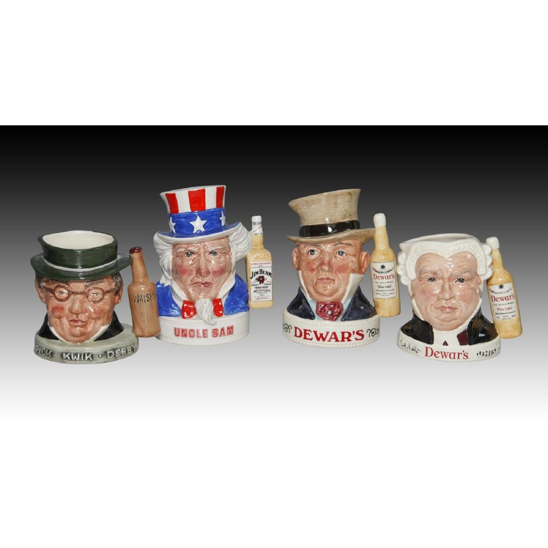 Royal Doulton Set Of 4 Four Whiskey Toby Jugs