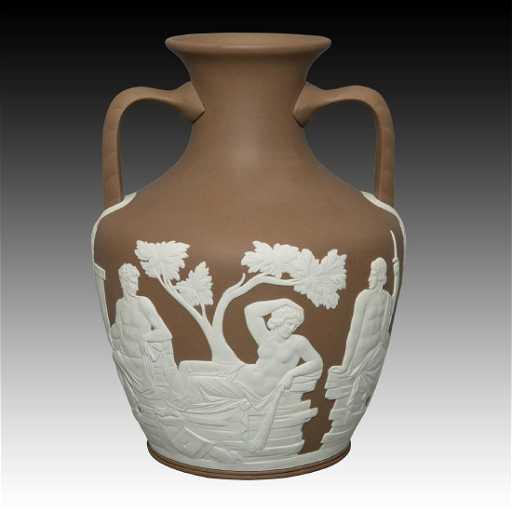 Wedgwood Taupe Large Portland Vase Phrygian Cap