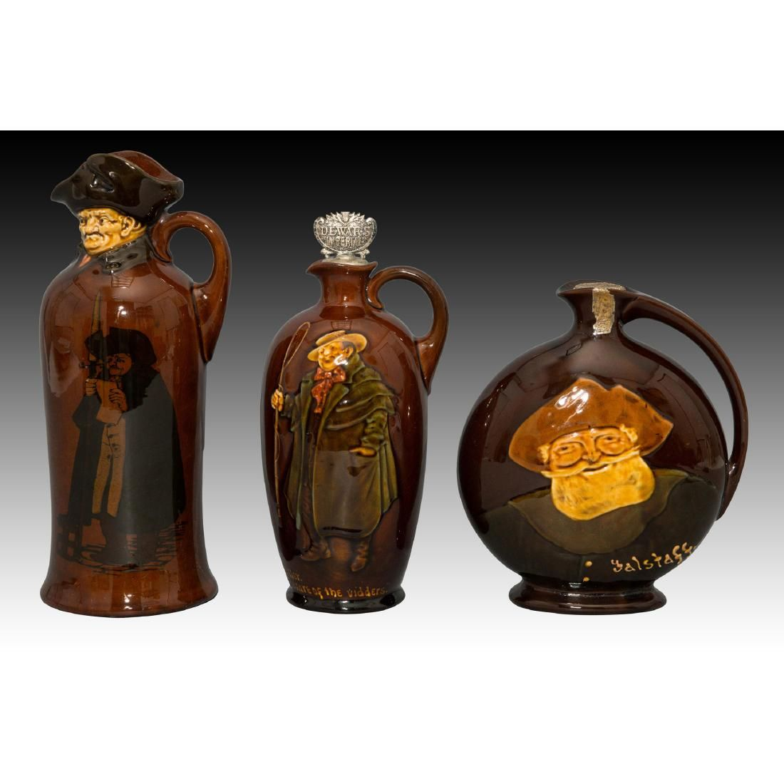 Royal Doulton Kingsware Dewars Whiskey Jugs