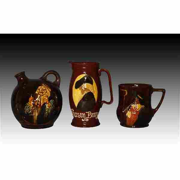 Royal Doulton Three Kingsware Whiskey Jugs