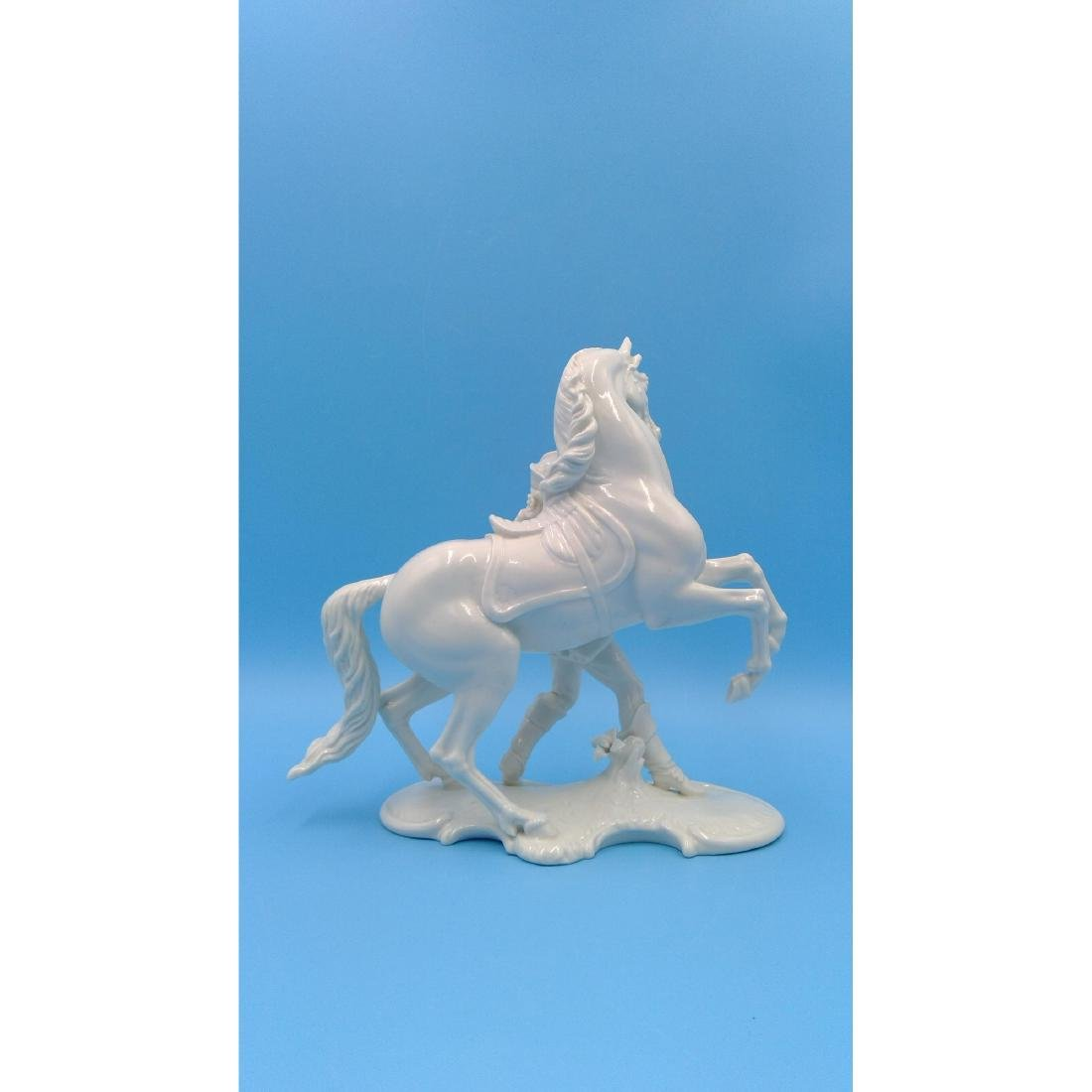 NYMPHENBURG GERMAN PORCELAIN FIGURINE HORSE RIDER - 3