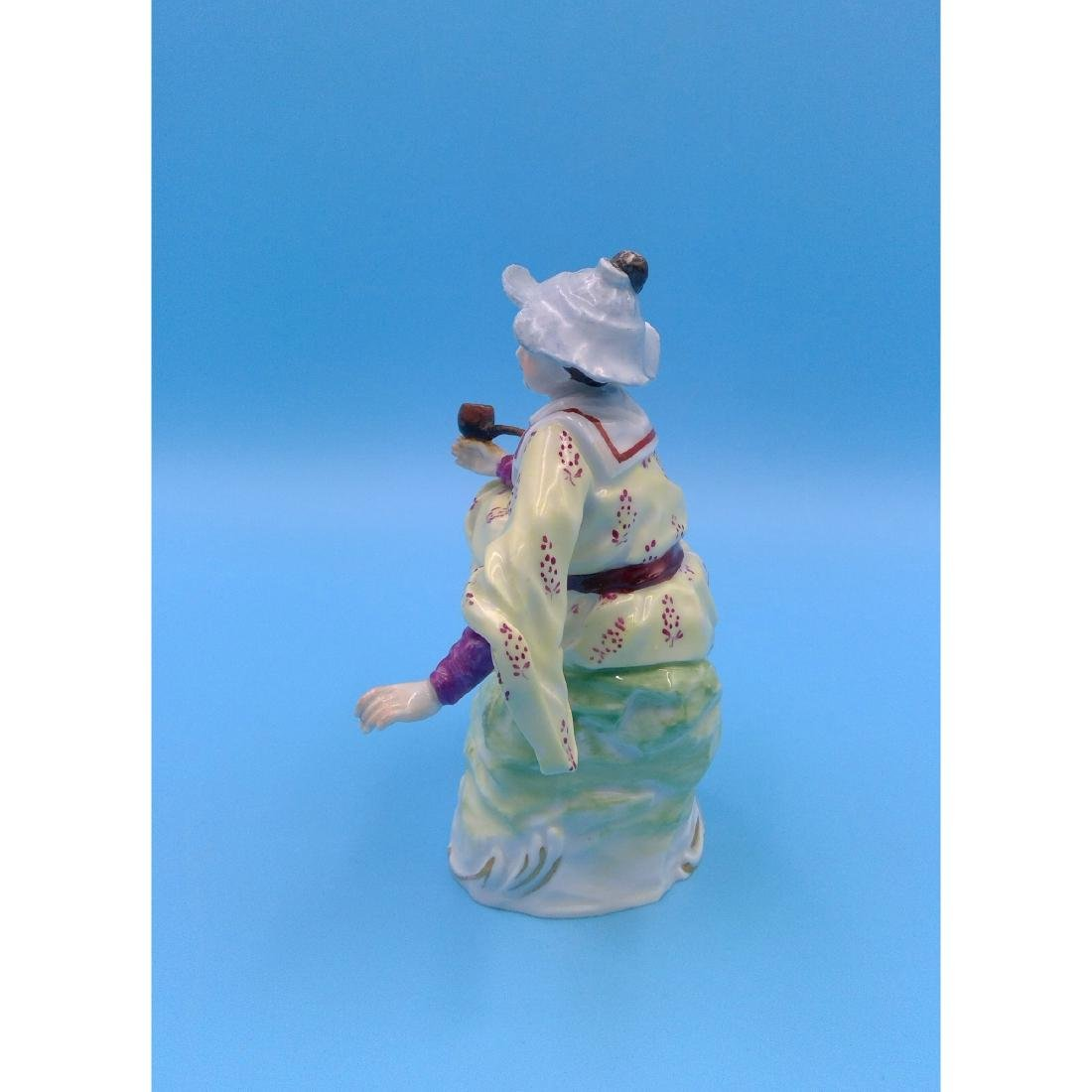 DRESDEN GERMAN PORCELAIN FIGURINE LADY W PIPE - 2