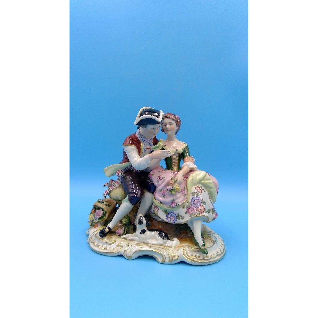 VOLKSTEDT GERMAN PORCELAIN GROUP FIGURINE