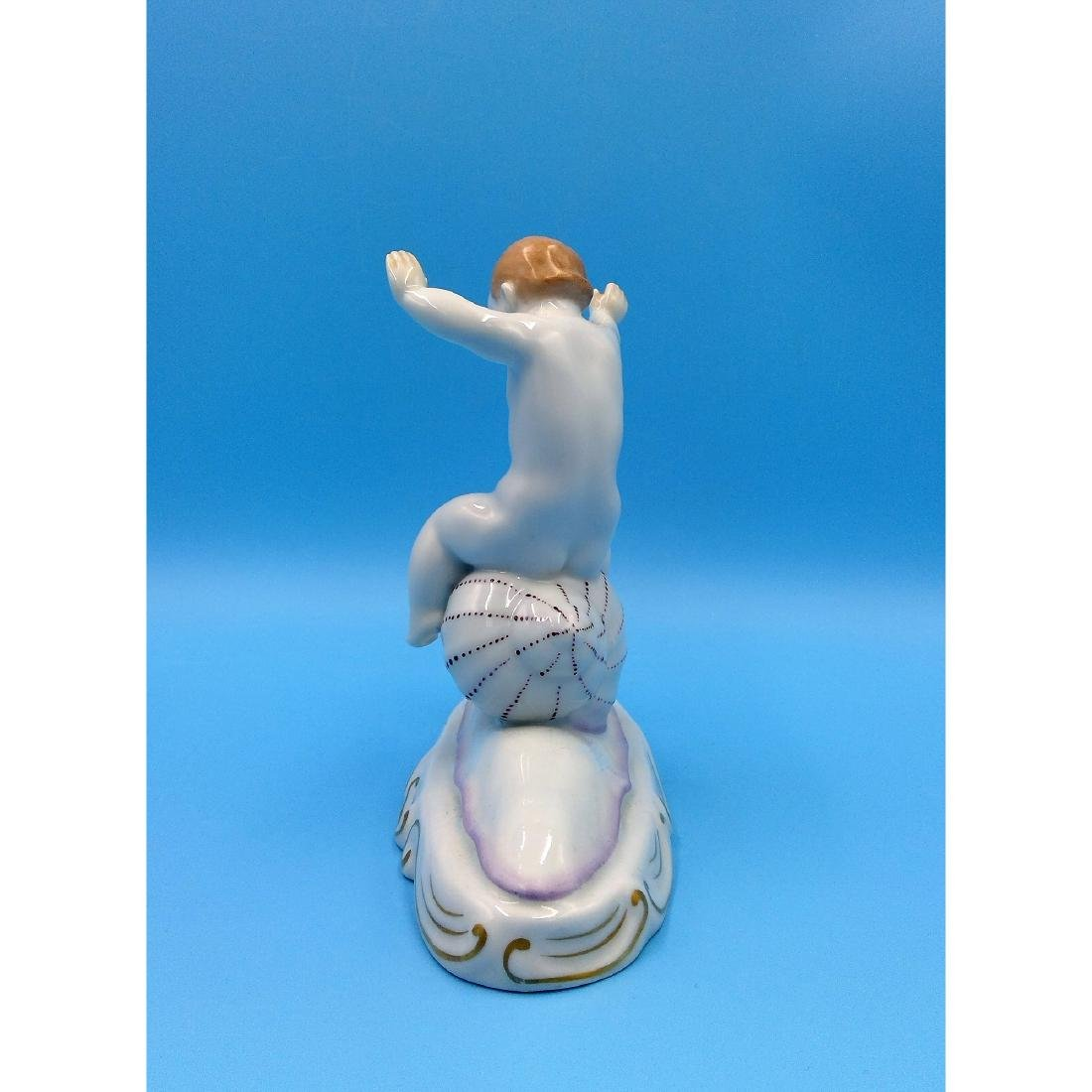HEREND HUNGARIAN PORCELAIN FIGURINE BOY - 2