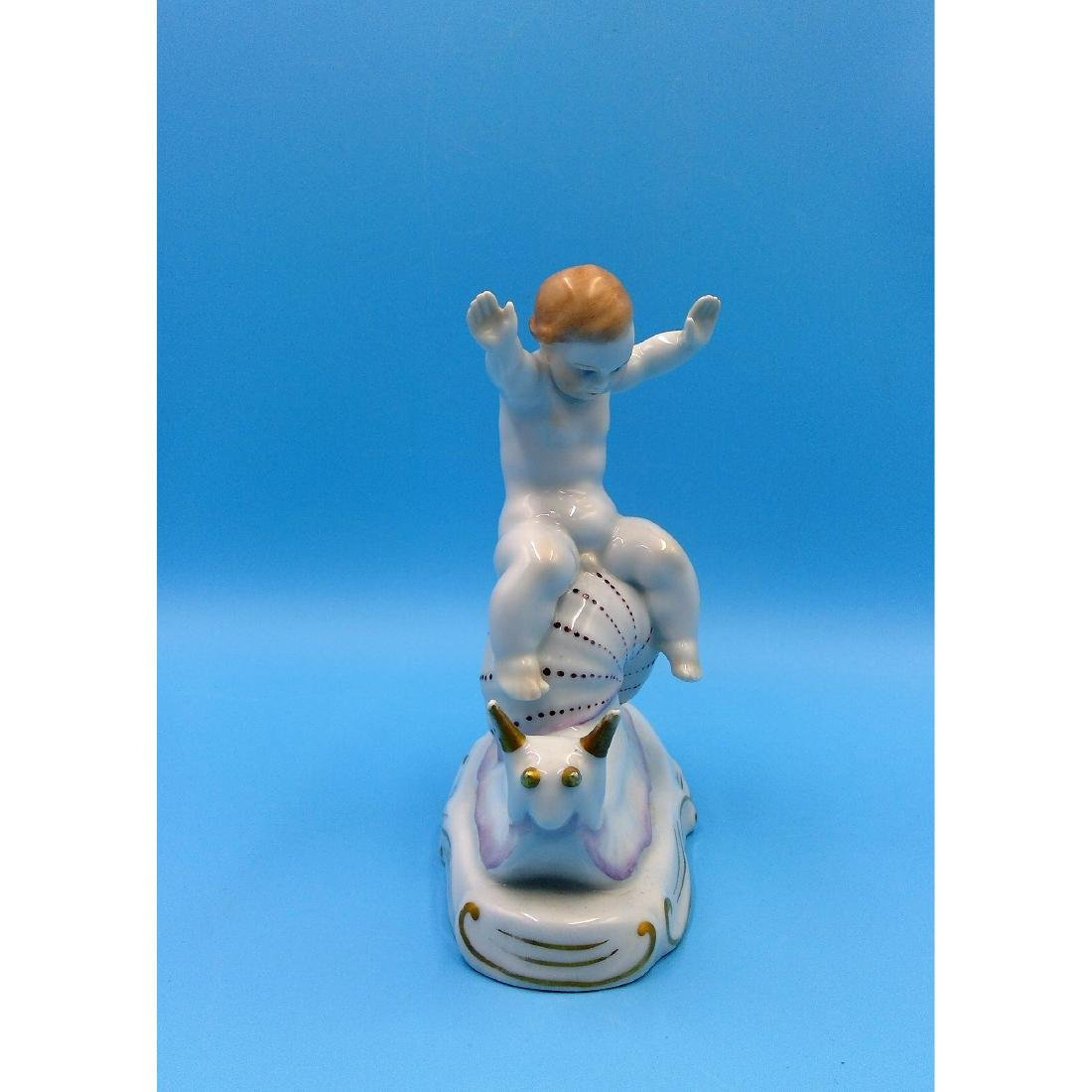 HEREND HUNGARIAN PORCELAIN FIGURINE BOY - 4