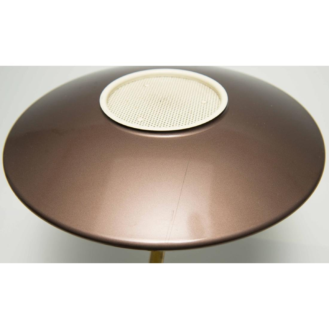 PAIR DAZOR MID-CENTURY MODERN FLYING SAUCER LAMPS - 4