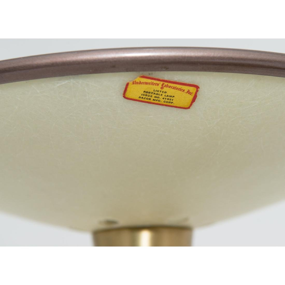 PAIR DAZOR MID-CENTURY MODERN FLYING SAUCER LAMPS - 6