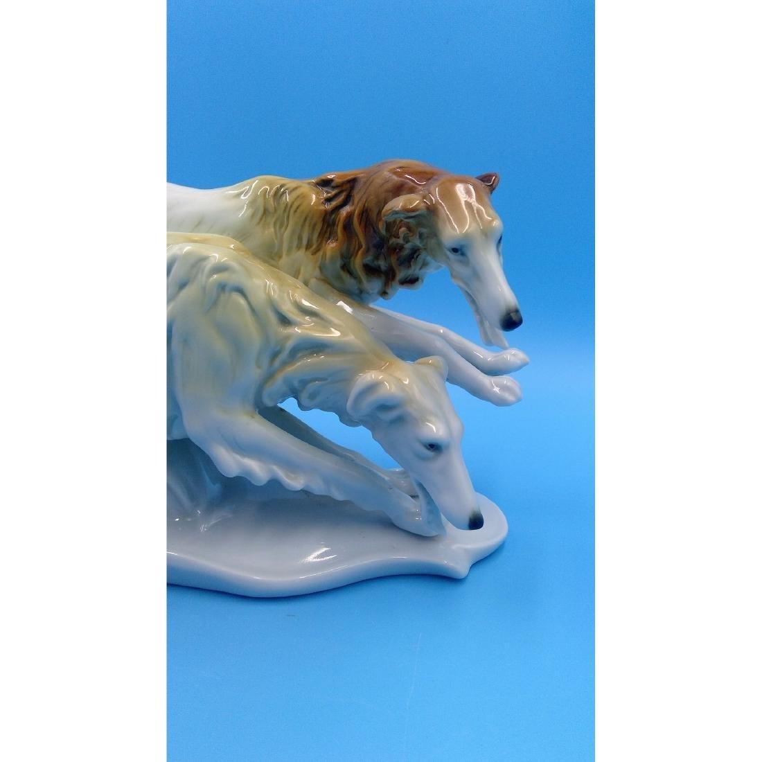 KARL ENS LARGE GERMAN PORCELAIN FIGURINE DOGS - 4