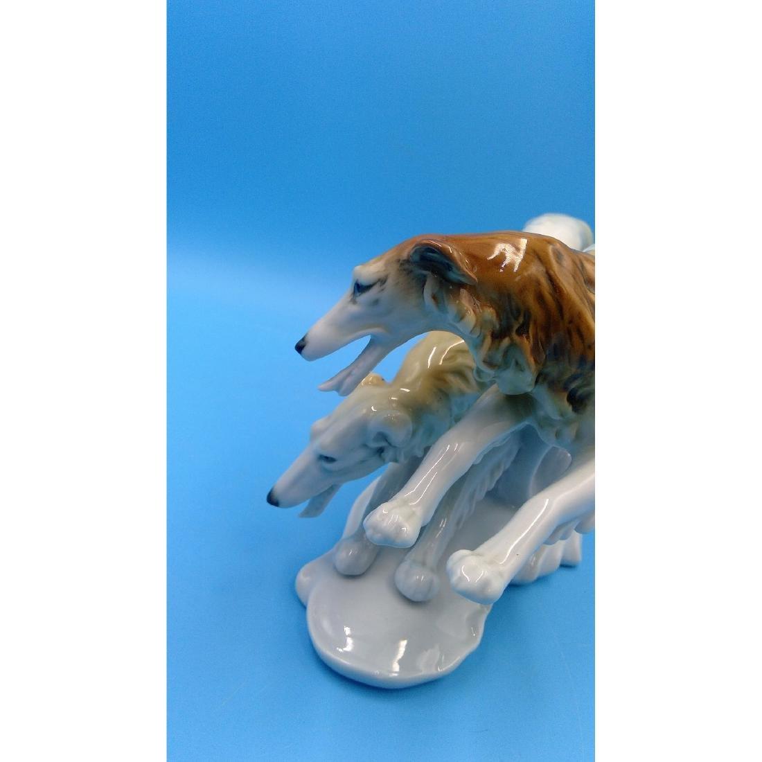 KARL ENS LARGE GERMAN PORCELAIN FIGURINE DOGS - 5