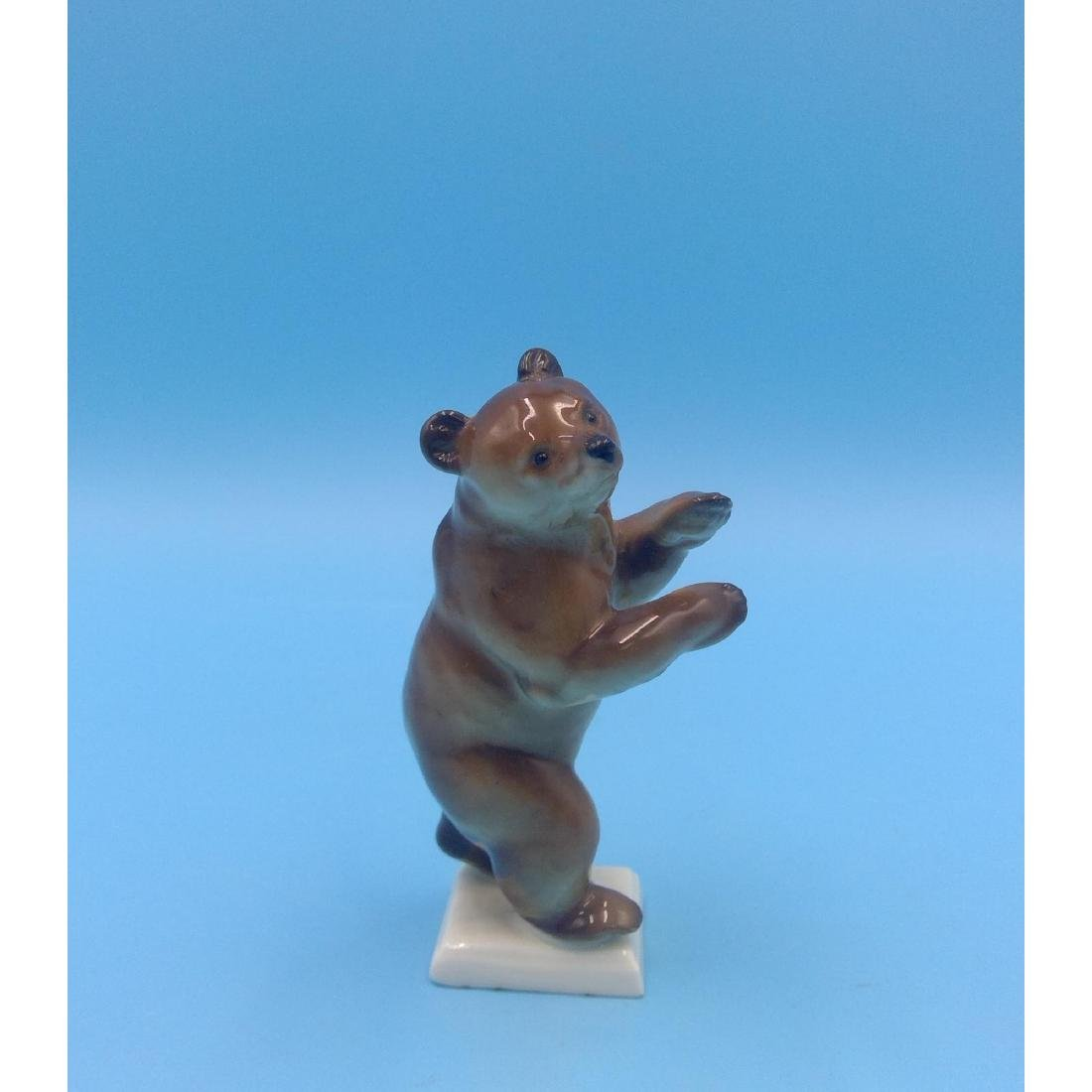 HUTSCHENREUTHER GERMAN PORCELAIN BEAR FIGURINE