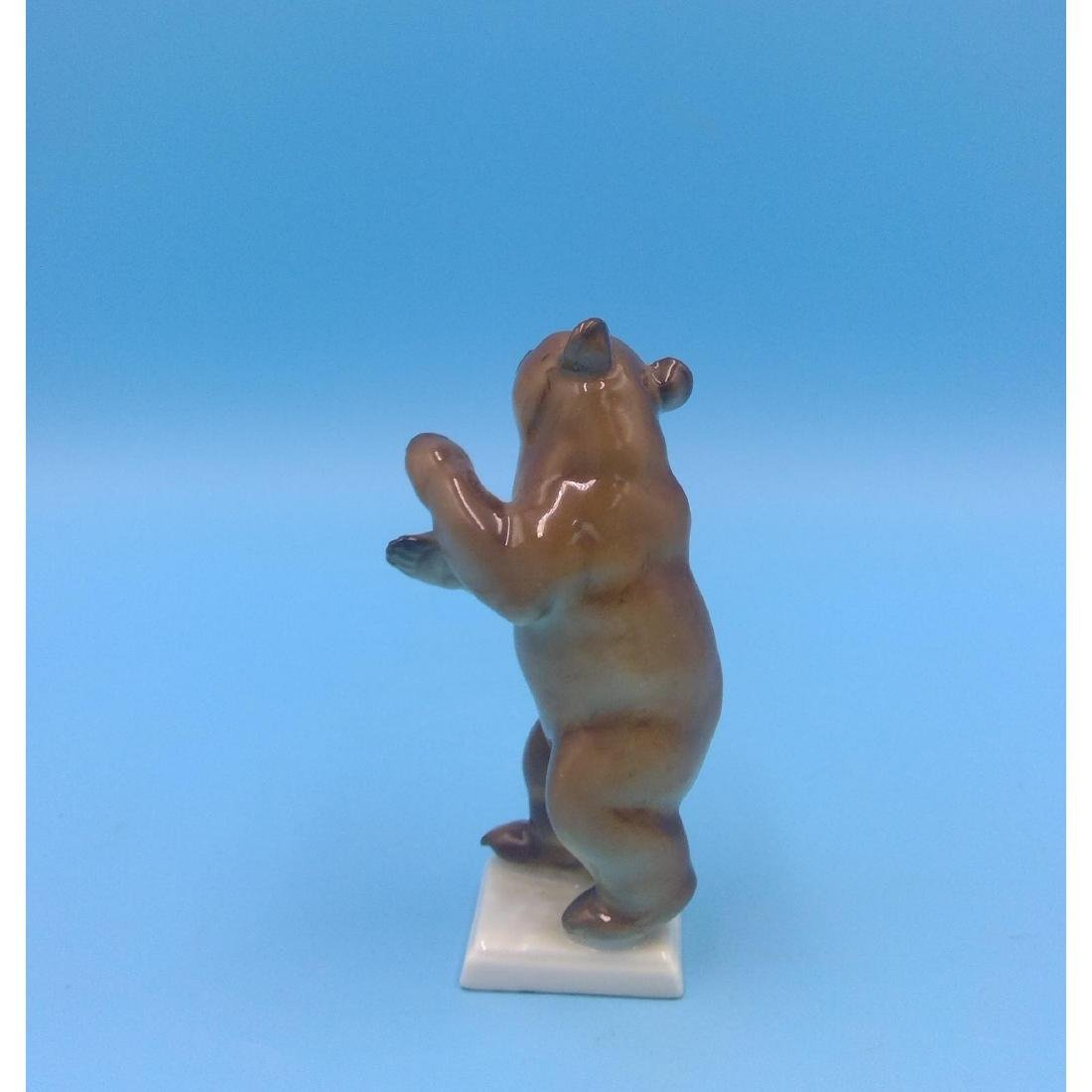 HUTSCHENREUTHER GERMAN PORCELAIN BEAR FIGURINE - 3