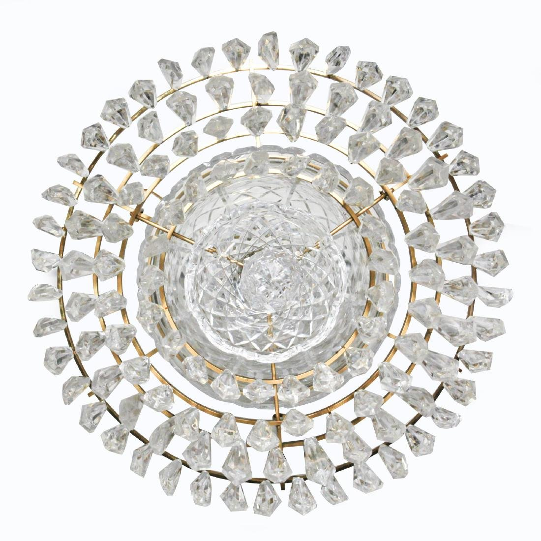 WATERFORD CRYSTAL AND BRASS BELL CHANDELIER - 4