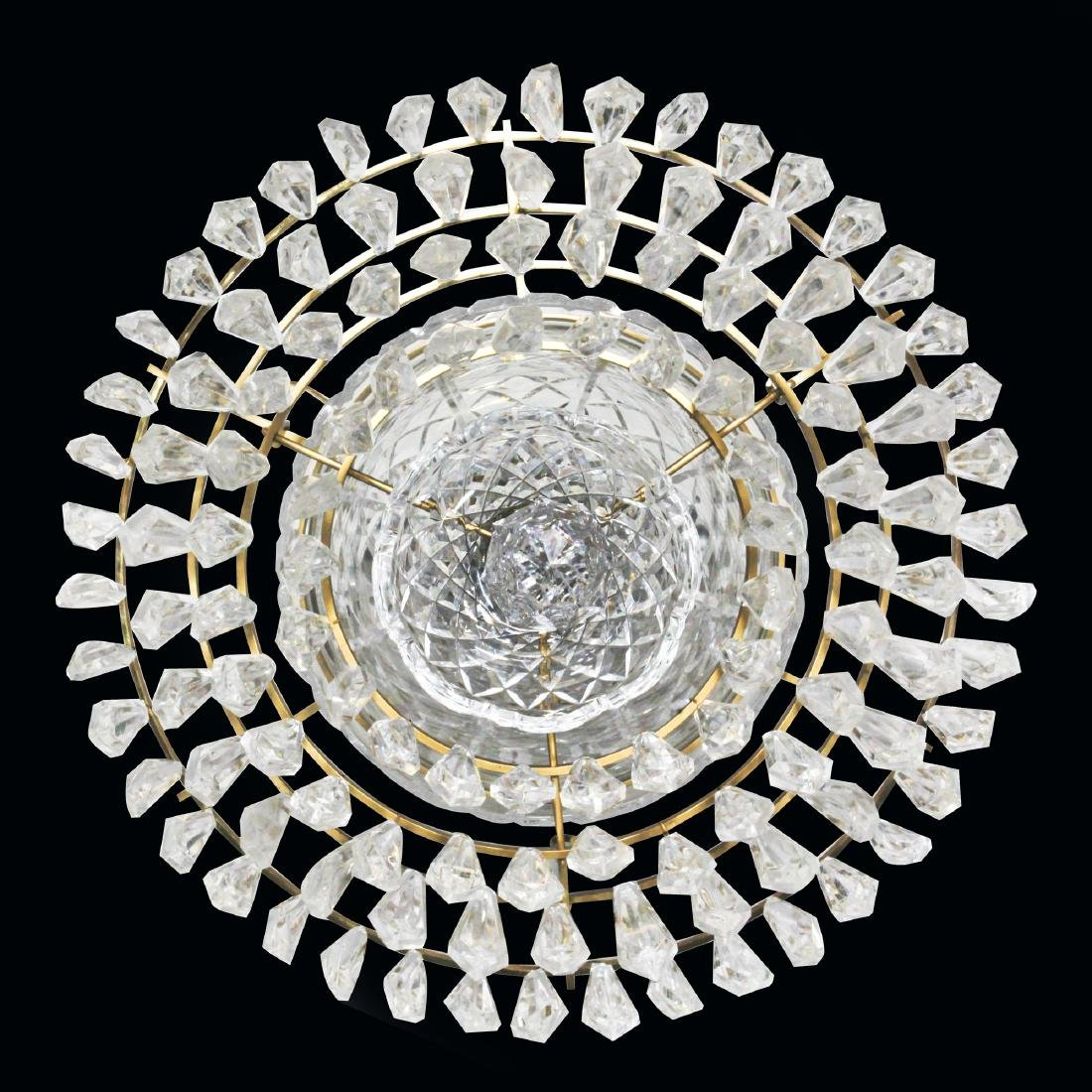 WATERFORD CRYSTAL AND BRASS BELL CHANDELIER - 5